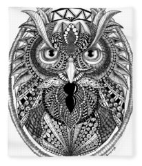 Ornate Owl Fleece Blanket
