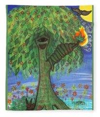 Osain Tree Fleece Blanket