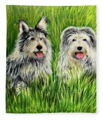 Oskar And Reggie Fleece Blanket