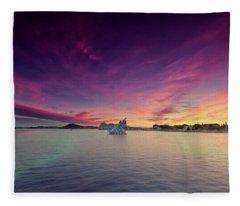 Oslo Harbor Fleece Blanket