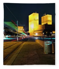 Oslo Town Hall Fleece Blanket