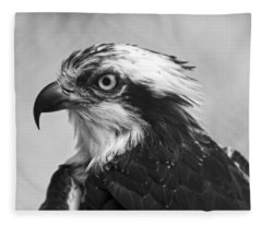 Osprey Monochrome Portrait Fleece Blanket