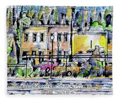 Other Side Of The Tracks Fleece Blanket