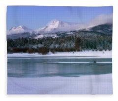 Otter At Black Butte Ranch Fleece Blanket