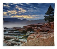 Otter Cove In The Mist Fleece Blanket