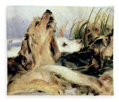 Otter Hounds Fleece Blanket