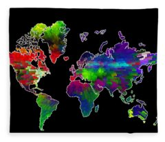 Our Colorful World Fleece Blanket