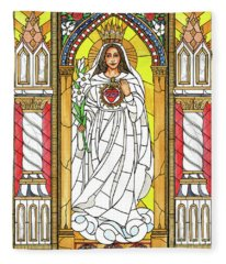 Our Lady Of America Fleece Blanket