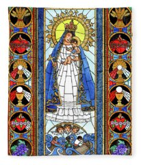 Our Lady Of Caridad Del Cobra Fleece Blanket