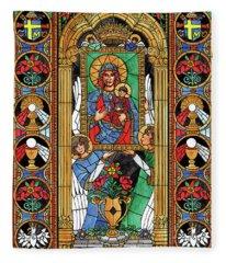 Our Lady Of Czestochowa Fleece Blanket