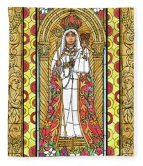 Our Lady Of Good Success Fleece Blanket