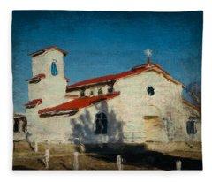 Our Lady Of La Salette Mission Paint Fleece Blanket