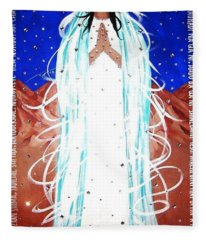 Our Lady Of Lucid Dreams Fleece Blanket