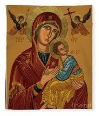 Our Lady Of Perpetual Help - Virgin Of Passion - Jcpph Fleece Blanket