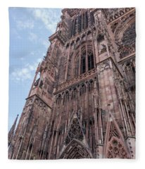Our Lady Of Strasbourg Fleece Blanket