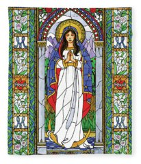 Our Lady Of The Immaculate Conception Fleece Blanket