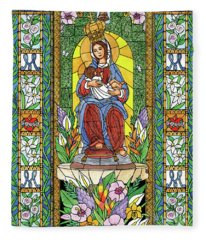 Our Lady Of The Milk Fleece Blanket