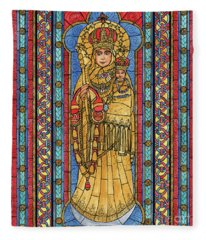 Our Lady Of Vailankanni Fleece Blanket