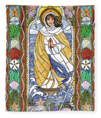 Our Lady Star Of The Sea Fleece Blanket