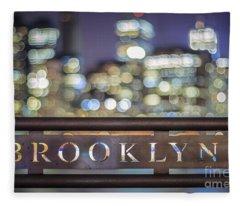 Out Of Brooklyn Fleece Blanket