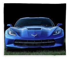 Blue 2013 Corvette Fleece Blanket