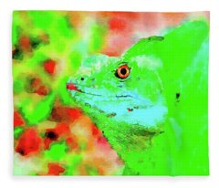 Fleece Blanket featuring the painting Out Of The Green by Steven Santamour