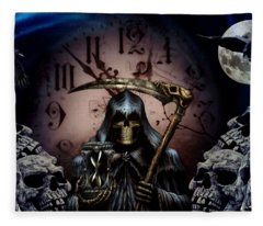 Out Of Time Fleece Blanket