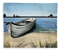 Out On The Water Fleece Blanket