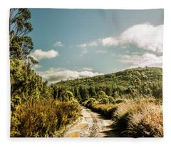 Outback Country Road Panorama Fleece Blanket