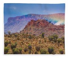 Outback Rainbow Fleece Blanket