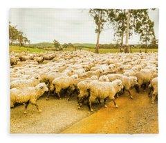 Outback Road Crossing Fleece Blanket