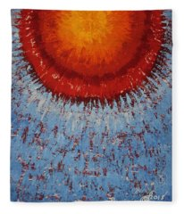 Outburst Original Painting Fleece Blanket