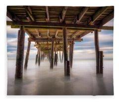 Outer Banks Nc Seascape Nags Head North Carolina Fleece Blanket