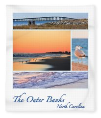Outer Banks North Carolina Fleece Blanket