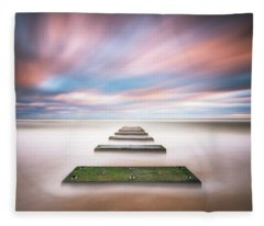 Outer Banks North Carolina Seascape Nags Head Nc Fleece Blanket