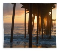 Outer Banks Pier 7/6/18 Fleece Blanket