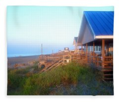 Outerbanks Sunrise At The Beach Fleece Blanket