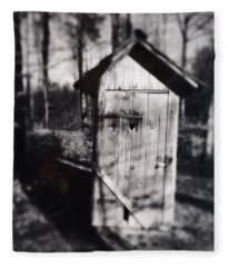 Outhouse Black And White Wetplate Fleece Blanket
