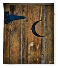 Outhouse Door  Fleece Blanket