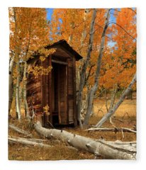 Outhouse In The Aspens Fleece Blanket