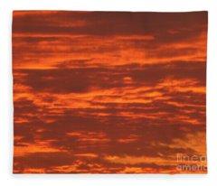 Outrageous Orange Sunrise Fleece Blanket