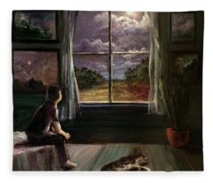 Outside The Window.  Inside The Soul. Fleece Blanket