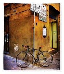 O'val Bicycle Fleece Blanket