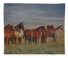 Over The Fenceline Fleece Blanket