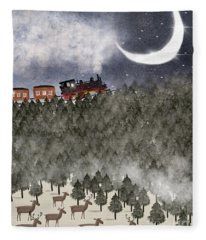 Over The Hill And Far Away Fleece Blanket