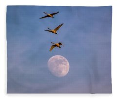 Over The Moon Fleece Blanket