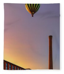 Over The Old Mill Fleece Blanket