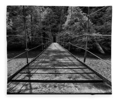 Over The River And Through The Woods Fleece Blanket