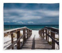 Over The Sand Fleece Blanket