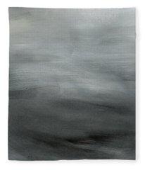 Overcast Morning- Abstract Art By Linda Woods Fleece Blanket